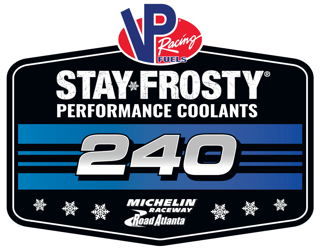 VP RACING FUELS SPONSORS IMSA RACE AT ROAD ATLANTA STAY FROSTY® COOLANTS 240 TO RUN LABOR DAY WEEKEND